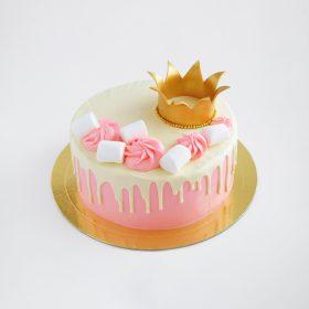 tort-rozowy-drip-cake-z-korona